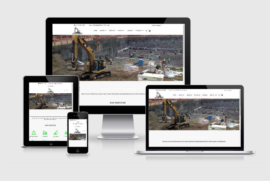 D & S Bulldozing Web Design